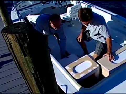 SSTV 17 14   66 Bertram Seating  Making A Fiberglass Bench Seat (Part 3)    YouTube