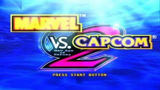 Marvel vs Capcom 2 Arcade Mode Gameplay (Gambit-Megaman-Strider Hiryu)