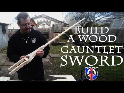 Shad's Shop: Building a wooden gauntlet sword