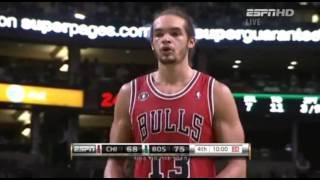 Derrick Rose & Noah Highlights vs Celtics [HD] (11.5.10)