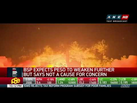 BSP expects peso to weaken further but says not a cause for concern