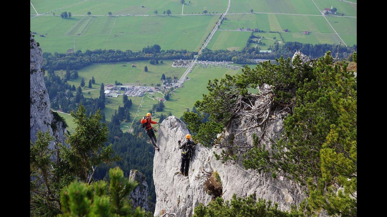 Klettersteig Tegelberg : Tegelberg klettersteige