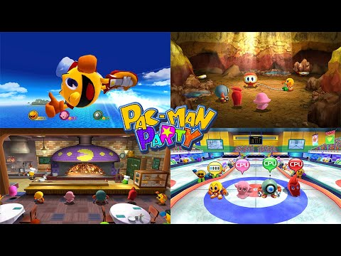 Pac-Man Party All Minigames