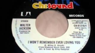 Walter Jackson...I won