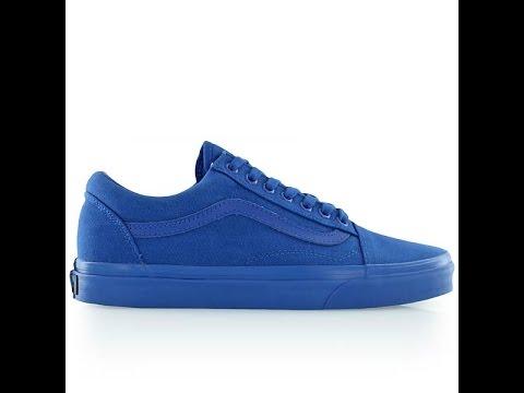 vans old skool blue mono