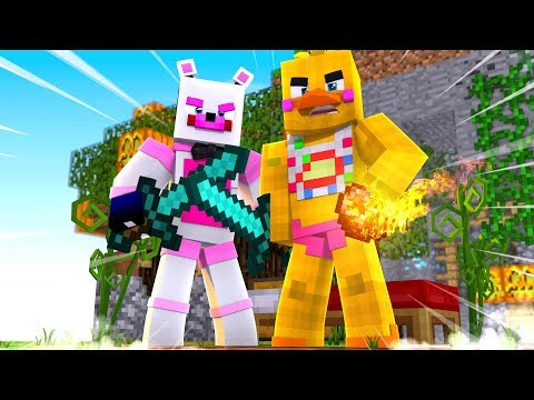 Bed Wars With Toy Chica! Minecraft FNAF Roleplay