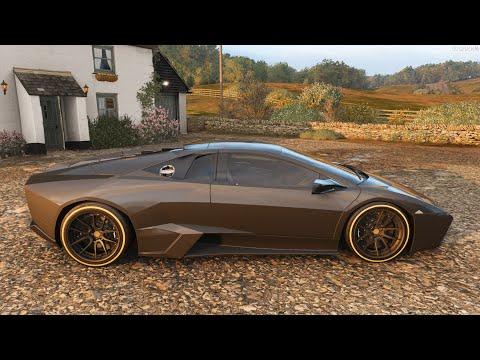 Forza Horizon 4 - 2008 Lamborghini Reventon Forza Edition - Car Show Speed Jump Crash Test .