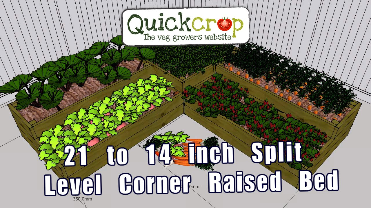 21 To 14 Inch Split Level Corner Raised Beds Youtube