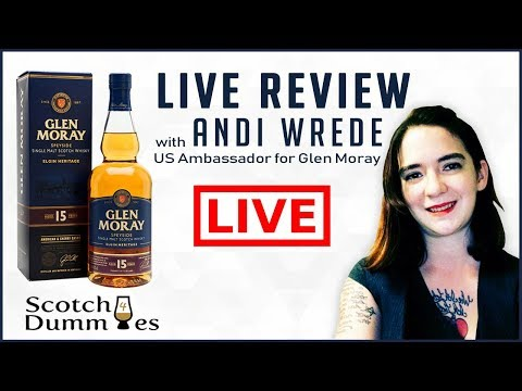 🔴Glen Moray 15 Year Speyside Live Review with Andi Wrede Plus Special 13 Year tasting