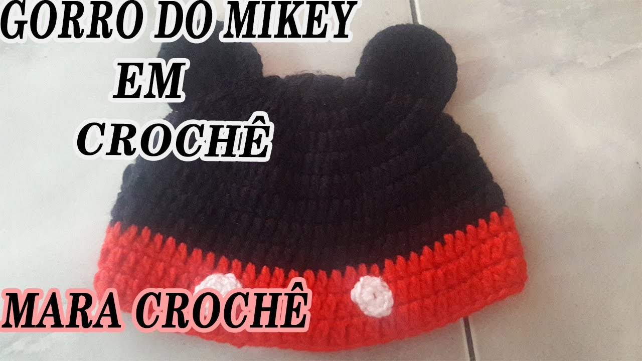 GORRO DO MIKEY EM CROCHÊ - YouTube 7f6623fb2da