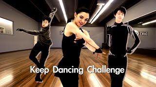 Keep Dancing Challenge with Figure Skaters Yuzuru Evgenia Nathan