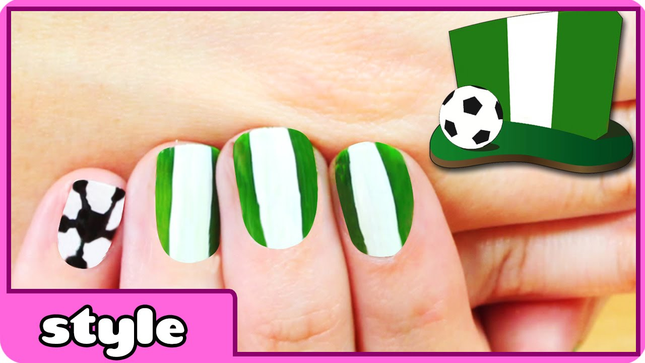 Fifa World Cup 2014 Nail Art Nigeria Youtube