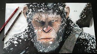 Desenhando César/Planetas dos Macaco A Guerra/Drawing César
