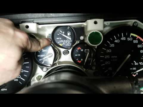 How To Remove Camaro Gauges And Bulbs