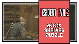 Resident Evil 2 Remake Library Book Shelves Puzzle Solution
