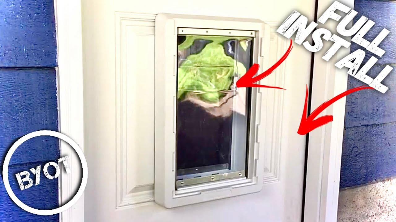 EXTERIOR DOOR WITH DOG DOOR INSTALL - YouTube