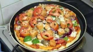 চুলায় তৈরী পিৎজা | Bangla Recipe of Pan Pizza on Stove | পিজ্জা