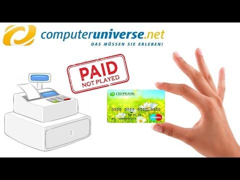 Оплата картой Сбербанка на Computeruniverse.net