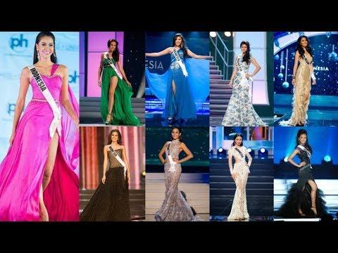 Designer Gaun Malam Miss Universe Indonesia 2005 - 2017