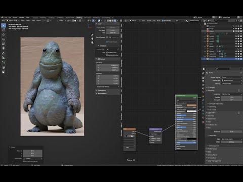 Blender + Painter Scale Creature.