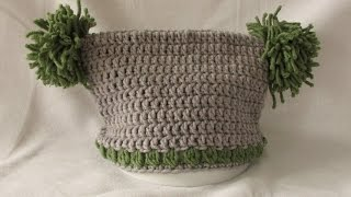 VERY EASY crochet jester / square hat tutorial - all baby / child's sizes