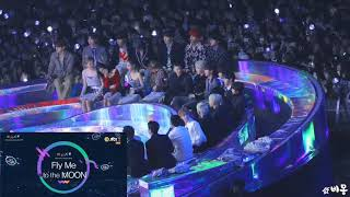 181201 BTS, iKON, BLACKPINK, Wanna One, MOMOLAND Reaction GFRIEND - TIME FOR THE MOON NIGHT@MMA