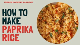 Riz pilaf flavored with paprika (paprika rice) | Foolproof recipe for making riz pilaf