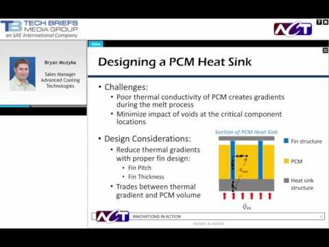 WEBINAR: Thermal Storage And Management Using PCM (Phase Change Material)