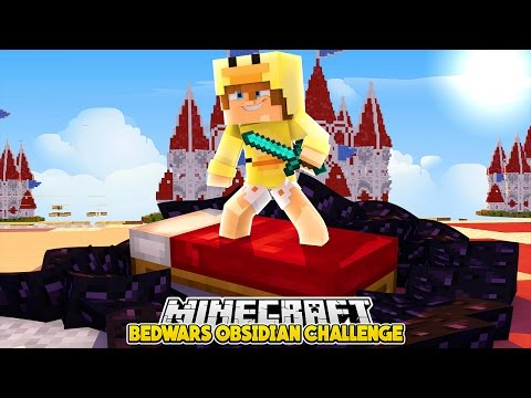 Minecraft Bedwars - CAN I PROTECT MY BED WITH OBSIDIAN?? Baby Duck Adventures