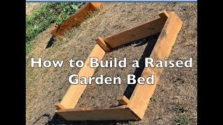 How to Build a Raised Garden Bed for Under $20
