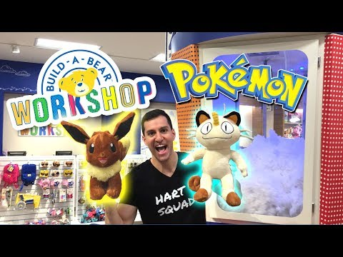 Making NEW POKEMON Bears at Build-A-Bear! (EXCLUSIVE POKEMON CARDS!)