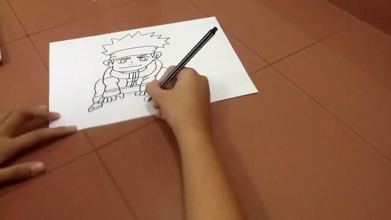Lần đầu vẽ Naruto cậu bé ninja