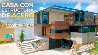 CASA CON ESTRUCTURA DE ACERO | OBRAS AJENAS | PARTE 1 | @arqgibranlopez