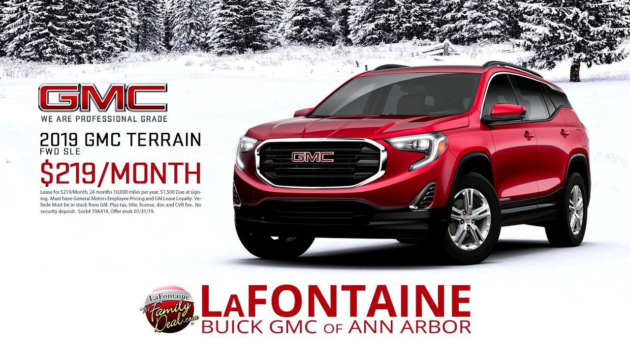 Lafontaine Ann Arbor >> Lafontaine Buick Gmc Of Ann Arbor 2019 Gmc Terrain Fwd Sle January