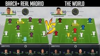 BARCELONA + REAL MADRID VS THE WORLD!? 🌏 WHO WINS THE LEAGUE? 🤔 FIFA 17 EXPERIMENT