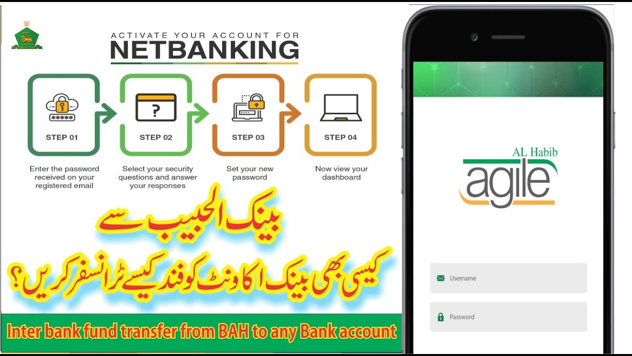 Download Inter bank fund transfer from Bank Al Habib (BAHL) to any Bank Account   From mob agile app   2020