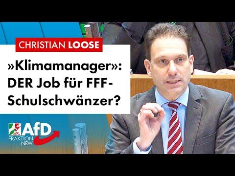 »Klimamanager»: DER Job für FFF-Schulschwänzer? – Christian Loose (AfD)