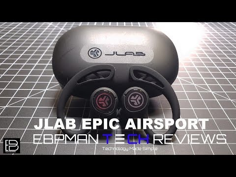 70 Hours of Music Playback | New (2019) Jlabs Epic Air Sport True Wireless Fitness Earbuds