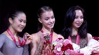 Церемония награждения. Женщины. Shiseido Cup of China. Гран-при по фигурному катанию 2019/20