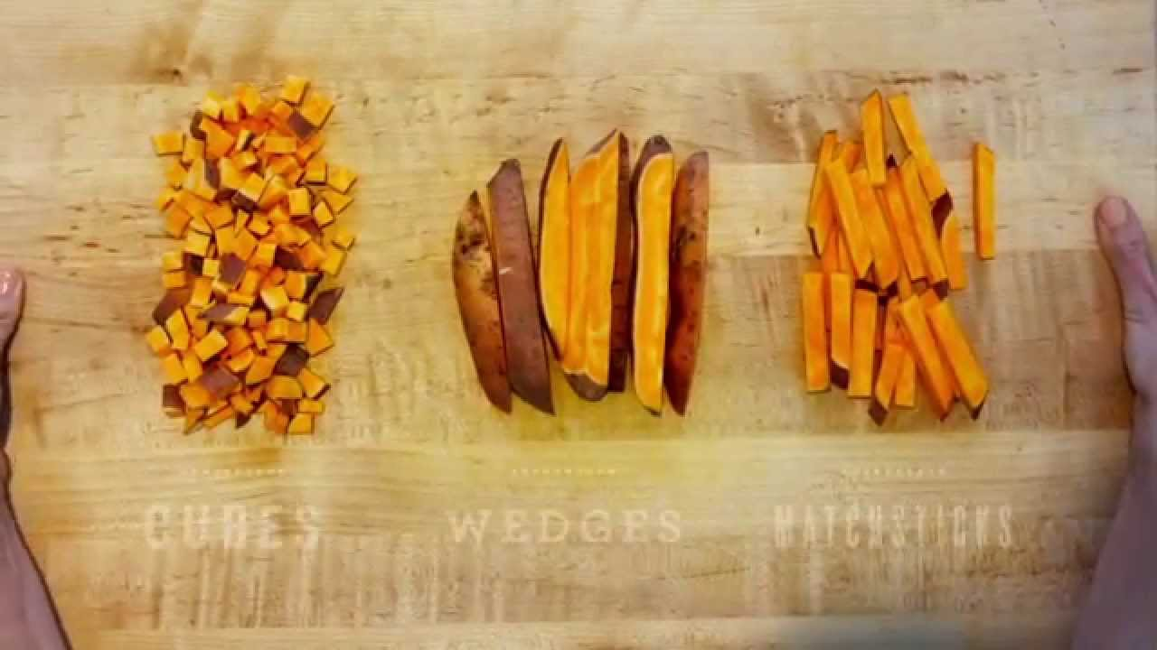How To Cut Sweet Potatoes - YouTube