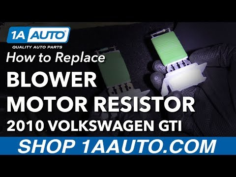 How to Replace Blower Motor Resistor 08-14 Volkswagen GTI