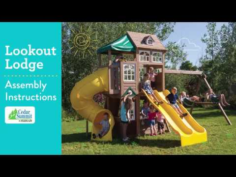 Cedar Summit Lookout Lodge Playset By Kidkraft Assembly Video Steps