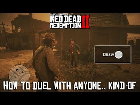 Red Dead Redemption 2 - How To Duel With Anybody (Kind Of)