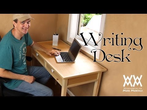 Make a quaint and charming writing desk. Free woodworking plans!