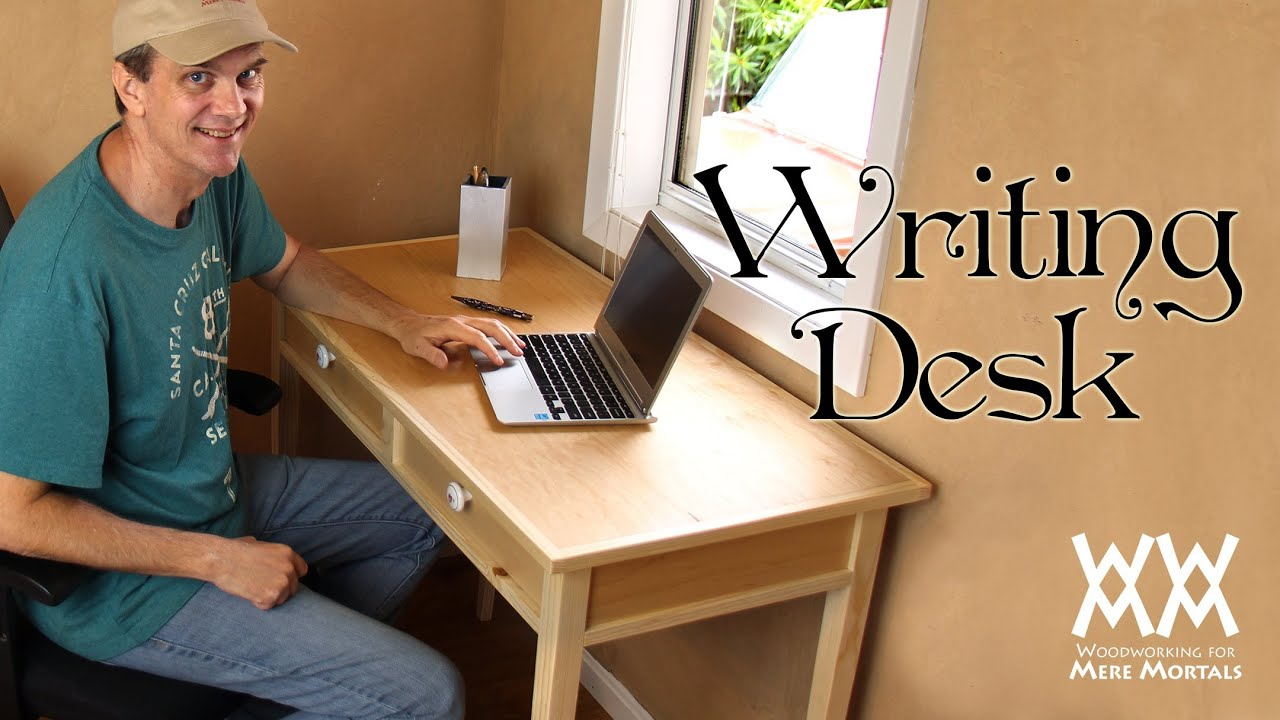 Make a quaint and charming writing desk. Free woodworking plans! - YouTube