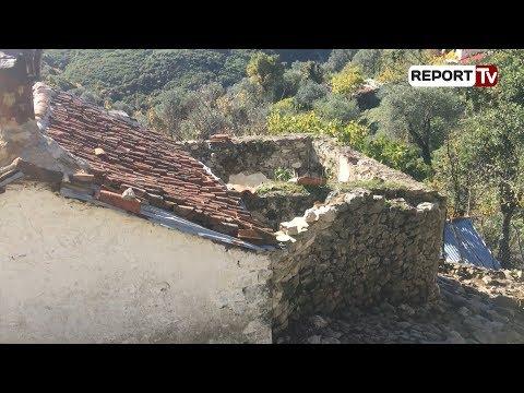 Report TV - Sarandë, Fterra e vizitueshme, banorët braktisin fshatin, s'ka rrugë