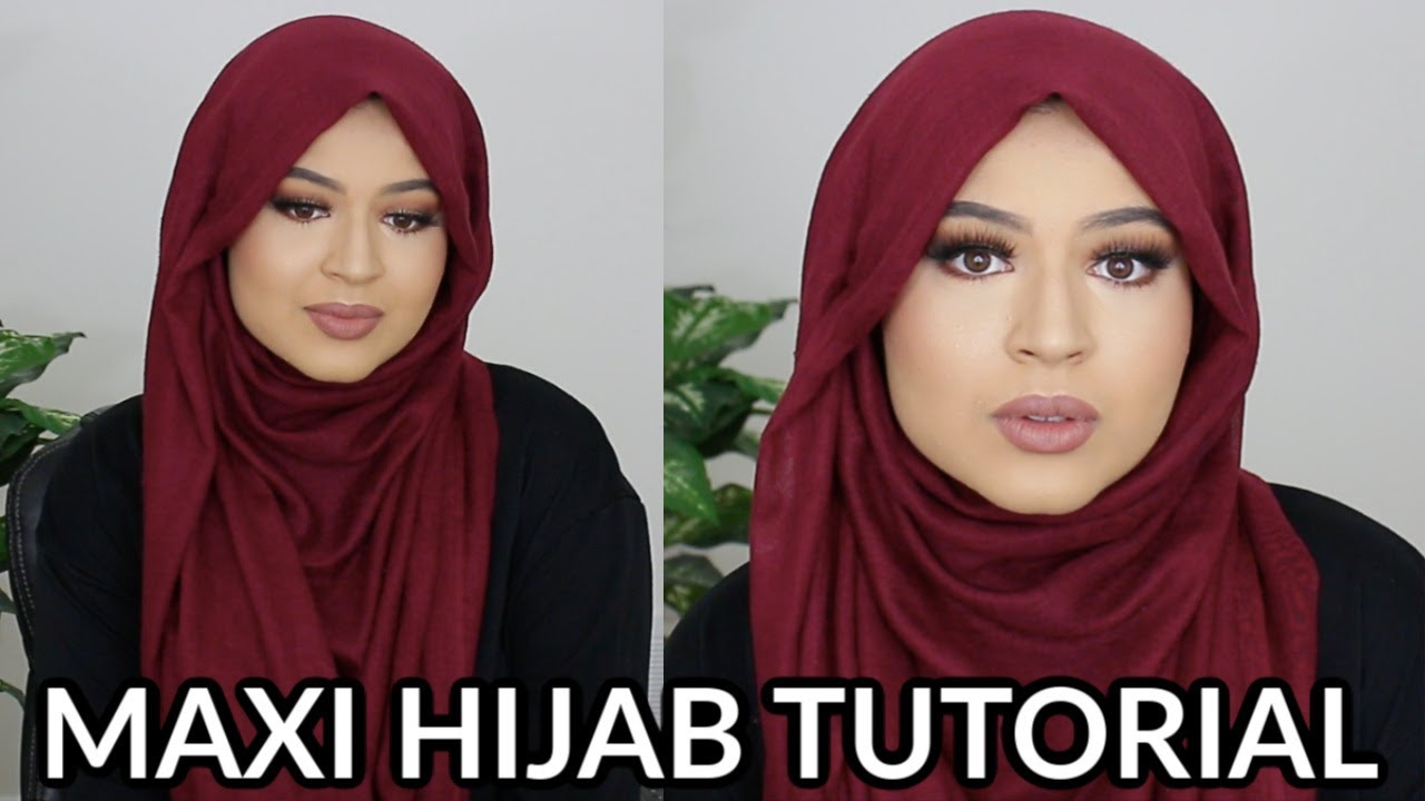 How To Style A Maxi Hijab Super Flowy Full Coverage Hijab Tutorial Youtube
