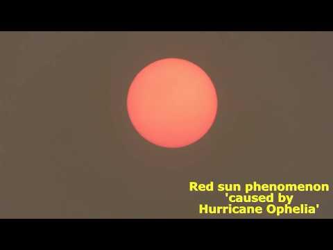 Hurricane Ophelia caused Red Sun Phenomenon over UK October