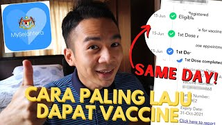 FAST METHOD TO GET VACCINATED WITH MYSEJAHTERA APP | Not fake news! screenshot 2