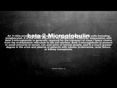 Medical vocabulary: What does beta 2-Microglobulin mean